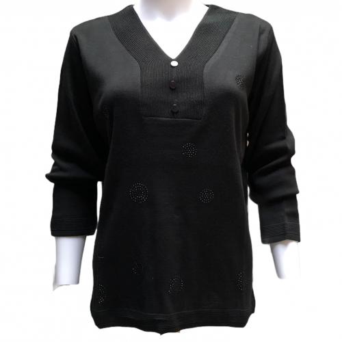 Styles trui zwart Lady's Club Damesmode